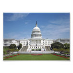 Washington DC branco da construção do Capitólio do Impressão De Fotos
