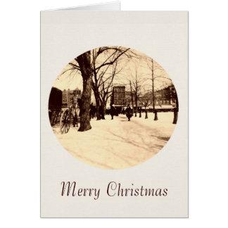 Washington DC do vintage no cartão de Natal da