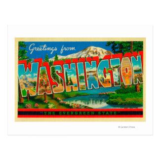 Washington - o estado verde cartão postal