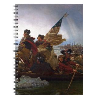 Washington que cruza arte do Delaware - E.U. do Caderno Espiral