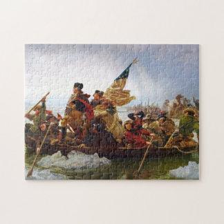 Washington que cruza o quebra-cabeça de Delaware