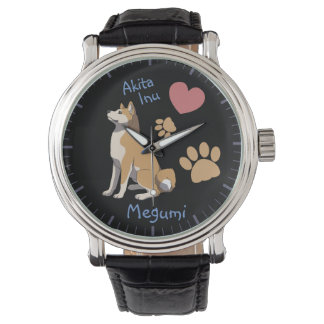 Watch Akita Inu cavalheiros Relógios de pulso