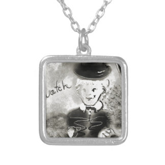 watchb&w colar banhado a prata