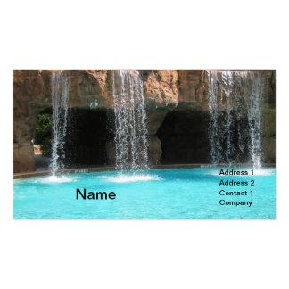 wate que conecta por uma caverna e por uma piscina cartão de visita