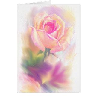 Watercolored aumentou em cartões das canvas
