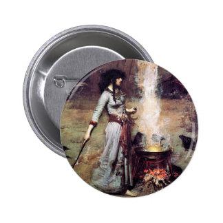 Waterhouse 1886 mágico do círculo bóton redondo 5.08cm