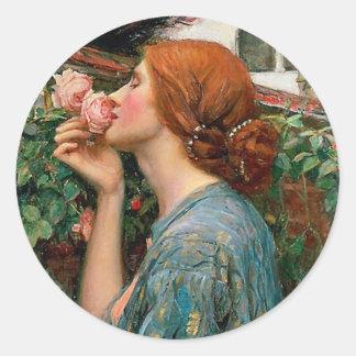 Waterhouse a alma das etiquetas do rosa adesivo