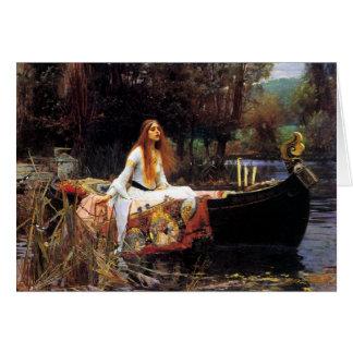 Waterhouse a senhora do cartão de Shalott