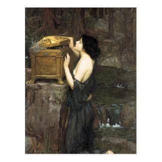 Waterhouse Pandora de John William Cartão Postal