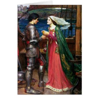Waterhouse Tristan e cartão de Isolde