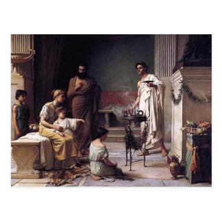 Waterhouse-Visita de John de uma criança doente ao Cartoes Postais