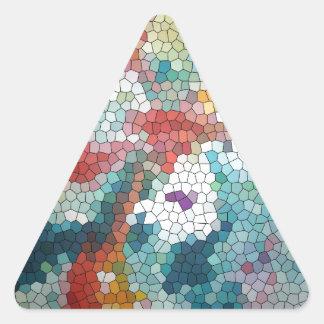 Waterlilies do mosaico do vitral do © P Wherrell Adesivos Triângulo