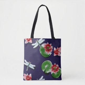 Waterlilies e bolsa das libélulas/corpo