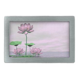 Waterlilies e flores de lótus cor-de-rosa - 3D