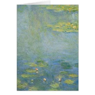 Waterlilies por Claude Monet Cartão De Nota