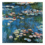 Waterlilies por Claude Monet, impressionismo do vi Posters