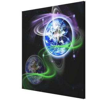 Wbckgd da ascensão da terra impressão em tela