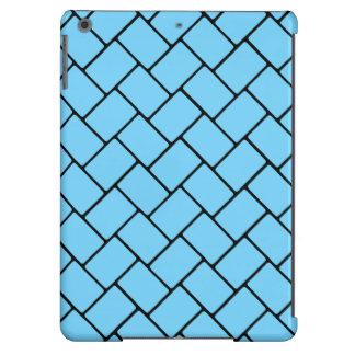 Weave de cesta 2 dos azul-céu capa para iPad air