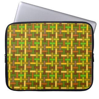 Weave de cesta capa de notebook