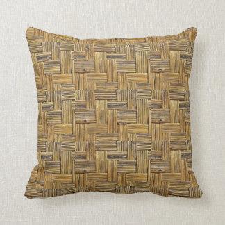 Weave de cesta de bambu dos tons naturais almofada