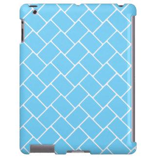 Weave de cesta dos azul-céu capa para iPad