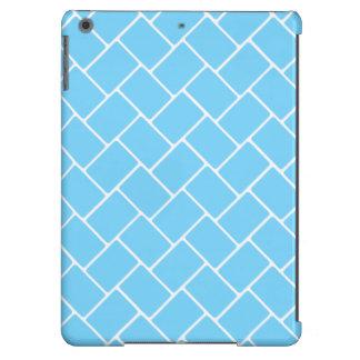 Weave de cesta dos azul-céu capa para iPad air