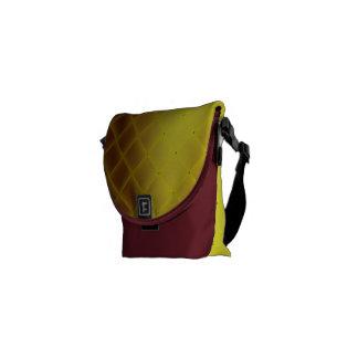 Weave de cetim amarelo do falso bolsas mensageiro