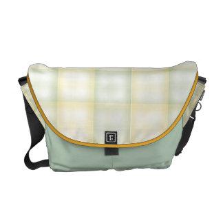 Weave verde e amarelo bolsa mensageiro