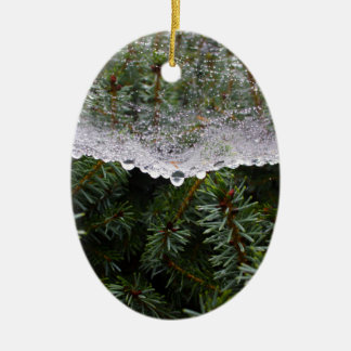 Web de aranha ornamento de cerâmica