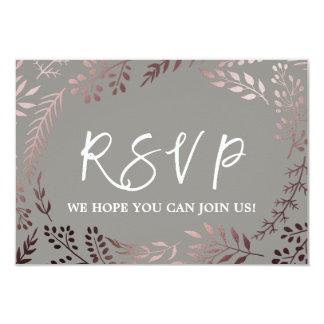 Web site cor-de-rosa elegante RSVP do casamento do Convite 8.89 X 12.7cm