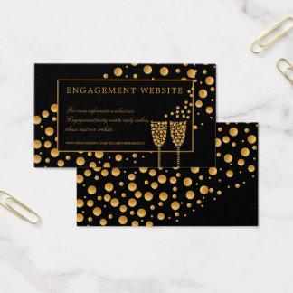 Web site da festa de noivado das bolhas de cartão de visitas