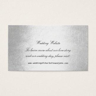 Web site delicado de prata do casamento do cartão de visitas