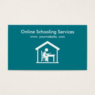 Web site em linha da educação Home Cartão De Visitas