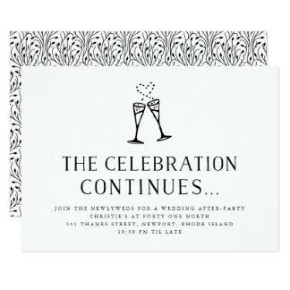 Wedding após o cartão da inserção do convite de