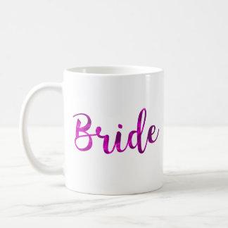 Wedding bonito roxo fúcsia cor-de-rosa da caneca