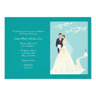 Wedding Convite 12.7 X 17.78cm