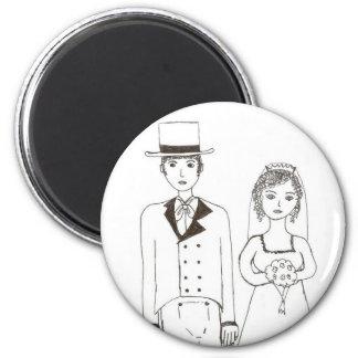Wedding de Jane Austen Ímã Redondo 5.08cm