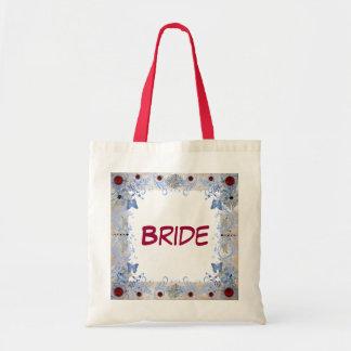 Wedding do art deco dos rubis sacola tote budget