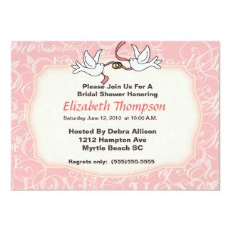 Wedding Doves Bridal Shower  Party  Invitation
