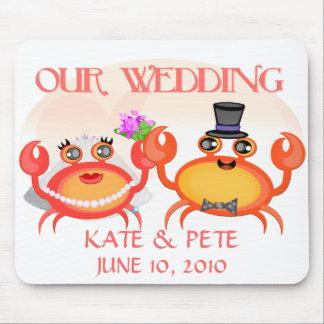 Wedding economias o anúncio da data mousepads