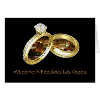 """Wedding em Las Vegas fabuloso """"SOA"""" o cartão"""