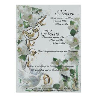 Wedding Invitation Convite 16.51 X 22.22cm