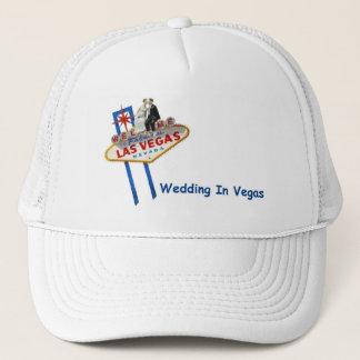 WEDDING na noiva & no noivo de Vegas no boné do