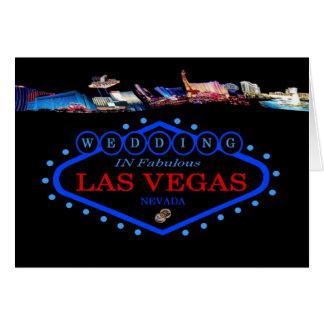 WEDDING no cartão de Las Vegas