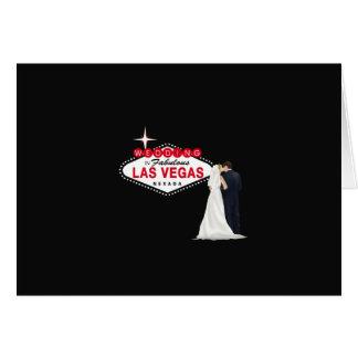 Wedding no cartão fabuloso de Las Vegas, no B & no