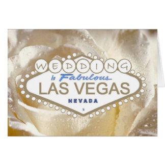 Wedding no cartão fabuloso do anúncio de Las Vegas
