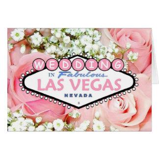 WEDDING no cartão minúsculo fabuloso das flores de