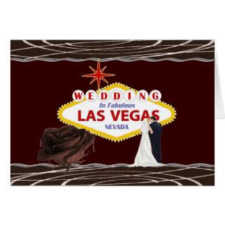 WEDDING no chocolate de Las Vegas aumentou, noiva Cartão Comemorativo