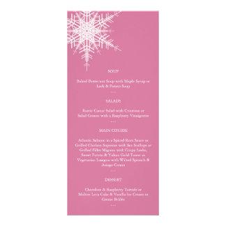 Wedding no menu do inverno (rosa) 10.16 x 22.86cm panfleto