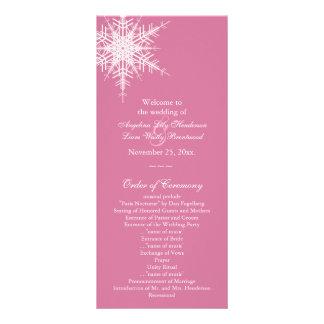 Wedding no programa do inverno (rosa) panfleto informativo personalizado